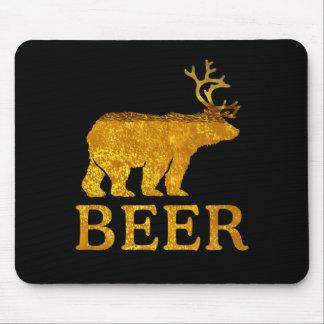 Cool Bear Deer or Beer Mouse Pad