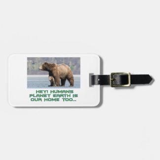 cool Bear designs Luggage Tag