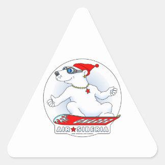 Cool Bear Triangle Sticker