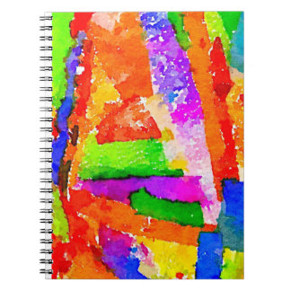 Cool Beautiful Colourful Abstract Collage Notebook