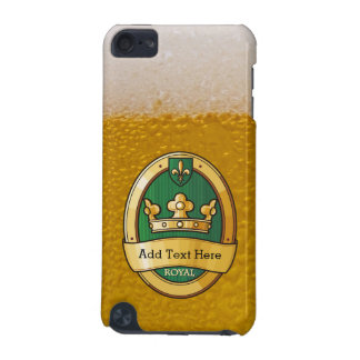 Cool Beer Glass Pattern and Gold Badge Monogram iPod Touch (5th Generation) Cases