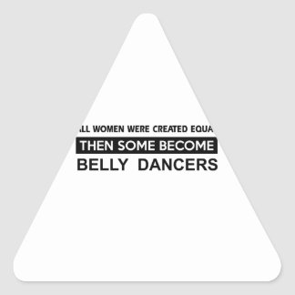 Cool Belly Dancing designs Triangle Sticker