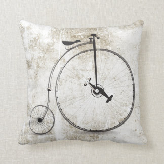 Cool Bicycle Big Wheel Vintage Style Pillow