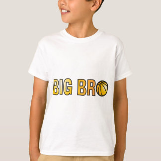 Cool Big Bro Shirt - Basketball Theme