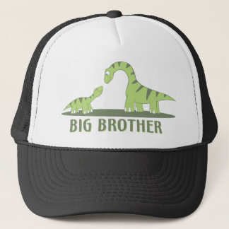 Cool Big Brother Shirt - Dinosaur Theme Trucker Hat