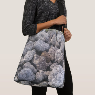Cool Big Gray Rocks Picture Crossbody Bag