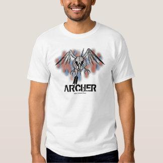 Cool bird skull archer graphic art t-shirt design