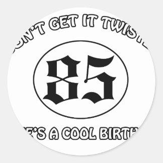 cool birthday design round sticker