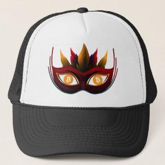 Cool Bitcoin eyes Carnival Mask Design Trucker Hat