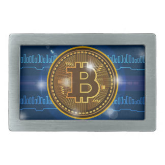 Cool Bitcoin logo and graph Design Belt Buckle