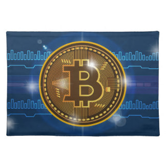 Cool Bitcoin logo and graph Design Placemat