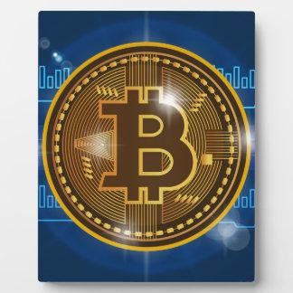 Cool Bitcoin logo and graph Design Plaque