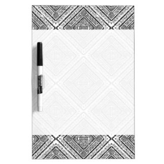 Cool Black and White Aztec Tribal Pattern Dry Erase Board