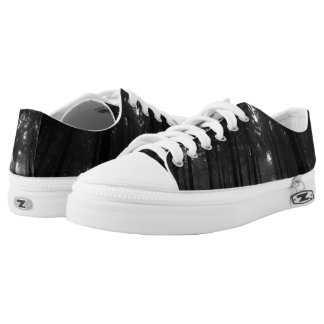 Cool Black and White Forest Fog Silence Gifts Printed Shoes
