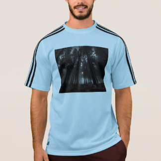 Cool Black and White Forest Fog Silence Gifts T-Shirt