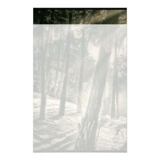 Cool Black and White Forest Sun Rays Nature Gifts Customized Stationery