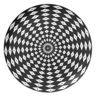 Cool Black and White Plate