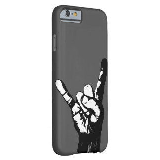 Cool black and white rock fingers, barely there iPhone 6 case
