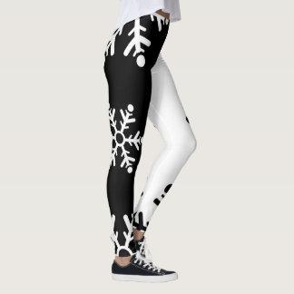 Cool black and white snowflake leggings