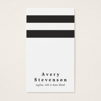 Cool Black and White Striped Modern Vertical White