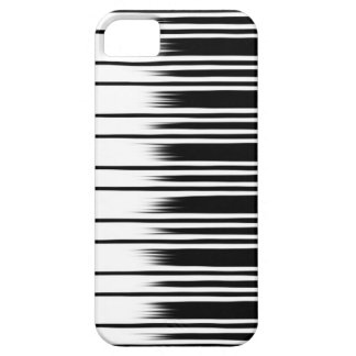 Cool Black and White Striped Pattern iPhone 5 Cover