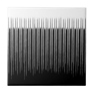 Cool Black and White Striped Pattern Tile