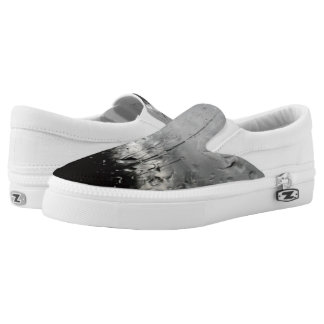Cool black and white water drops slip on shoes