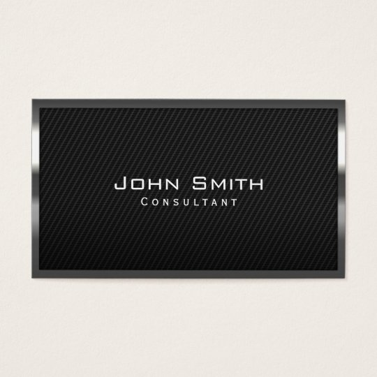 Cool black carbon fibre consultant business card zazzle cool black carbon fibre consultant business card reheart Choice Image