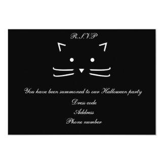 Cool Black Cat Halloween Customisable 13 Cm X 18 Cm Invitation Card