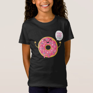 Cool Black Girls tShirt Donut Worry Be Happy