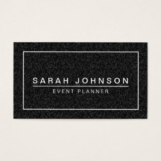 COOL BLACK GLITTER MODERN BUSINESS CARD