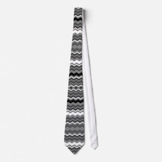 cool Black, grey and white zigzag pattern tie