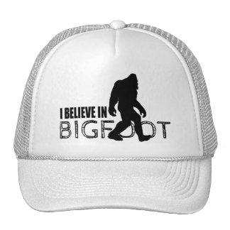 Cool Black I Believe in Bigfoot Cap
