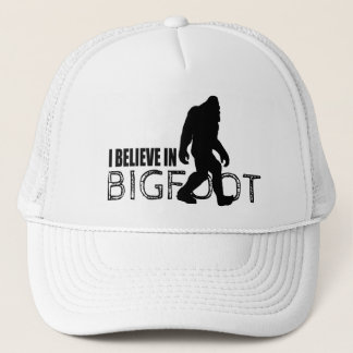Cool Black I Believe in Bigfoot Trucker Hat