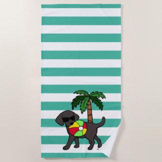 Cool Black Labrador Sunglasses Beach Towel