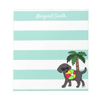 Cool Black Labrador Sunglasses Notepad