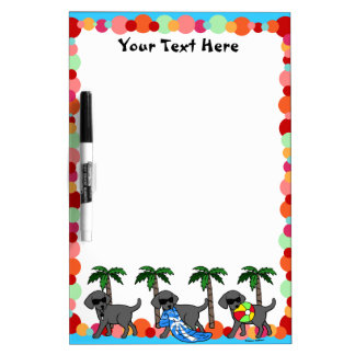 Cool Black Labradors Pool Party Dry Erase Board