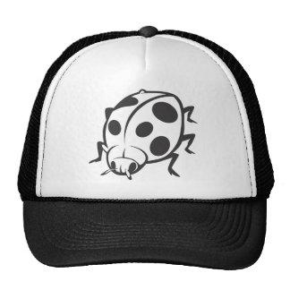 Cool Black Ladybug Tattoo Logo Hat