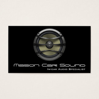 Cool Black Speaker Audio Technician Business Card