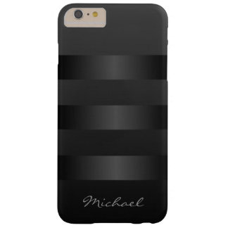Cool Black Stripes Monogram iPhone 6 Plus Case