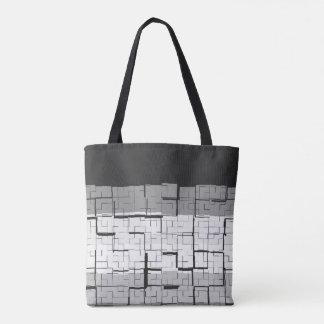 Cool Black White Gray Pattern Tote Bag