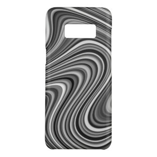 COOL Black White Silver Grey Curvy Line Pattern Case-Mate Samsung Galaxy S8 Case