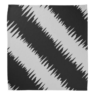 Cool Black Zigzag Striped Pattern Bandana