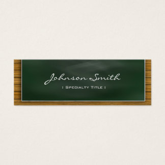 Cool Blackboard Chalkboard - School Teacher Mini Business Card