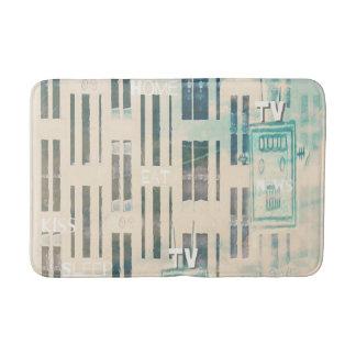Cool bleached worn appearance design bath mats