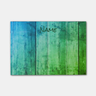 Cool Blue and Green Post-it Notes