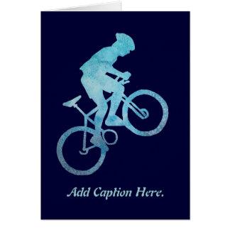 Cool Blue Biker Card