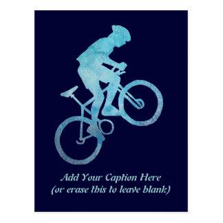 Cool Blue Biker Postcard