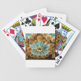 cool blue cream pattern bicycle playing cards