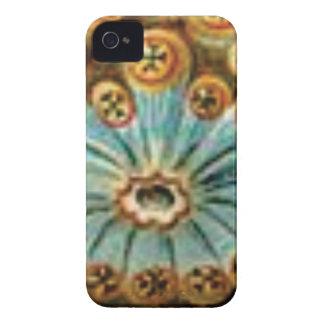 cool blue cream pattern iPhone 4 case